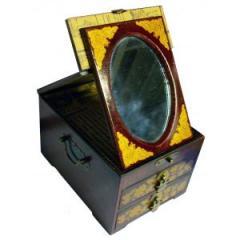 Boîte à bijoux miroir 2 tiroirs