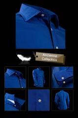 Chemise branchée pour homme bleu foncé à col