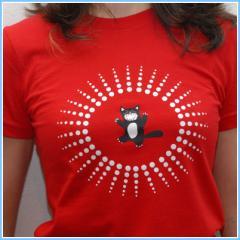 Tee shirt femme Cat's star