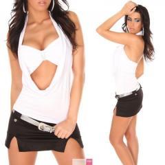 Top fashion avec ouverture - Blanc