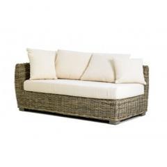 Canapé angle rotin gauche