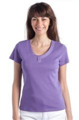 T-shirt manches courtes détail strass