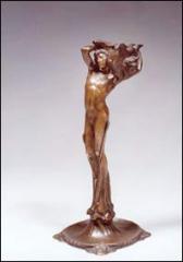 "Bronze bougeoir début XXe  ""Jeune"