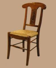 Chaise paillée « vase de fleurs »