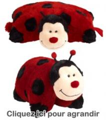 Peluche coussin duo Coccinelle [coussin
