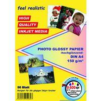 Papier photo glacé A4 150g 50 feuilles