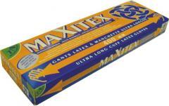 Gants d''examen latex long Maxitex