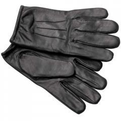 Gants anti coupure en cuir noir