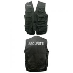 Gilet noir multipoches securite