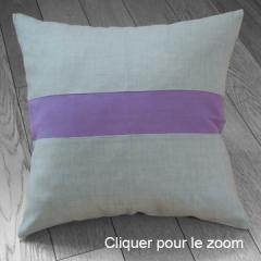 Coussin déhoussable 45x45 cm, 100% lin