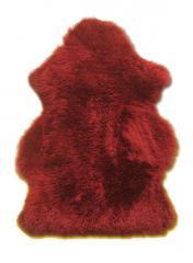 Peau d`agneau rouge