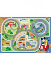Tapis enfant Mickey on the road multicolor