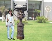 Vasque de jardin en bronze de grande taille