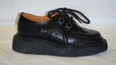Chaussures enfants George Cox Junior, cuir noir