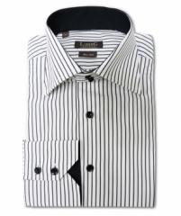 Chemise Classique Slim rayée (blanc - noir)