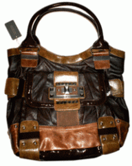 Sac a main Guess marron bicolore besace cabas Guess Cancun