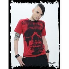 """T-shirt """"Huge skull"""" rouge"""
