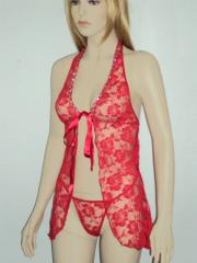 Nuisette Sexy babydoll red Sanselle and pantie (ref: LS81227)