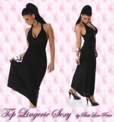 Robe noir longue sexy