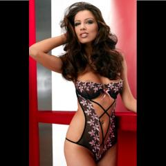 Body redresse seins broderies florales dos et fesses nus Angharad Anais