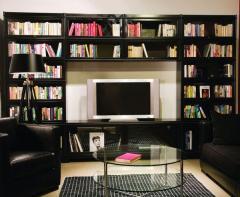 Bibliothèque classique combinaison meuble TV