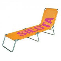 Chaise longue design Siesta orange