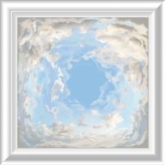 Décor de plafond Ciel opéra petit carré