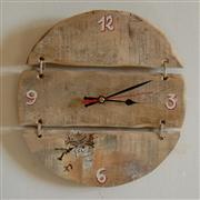 Horloge en bois ronde