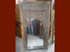 Grand miroir vieille arche indienne