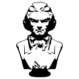Sticker buste Beethoven