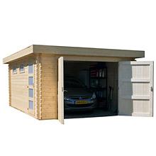 Garage en bois Red Plain