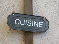 "Plaque de porte ""Cuisine""  Pomax"