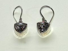 Boucles d'oreilles zirconium et argent
