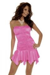Mini robe extensible et plissée