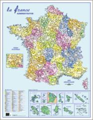 Carte la France administrative