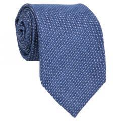 Cravate 7-plis en soie tissée bleu foncé