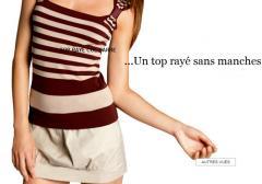 Top Raye Col Carre
