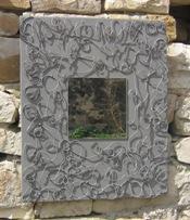 Miroir teinte argile grise