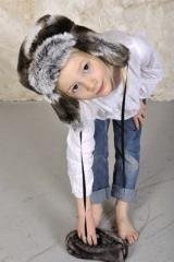 Chapka enfant Chinchilla gris
