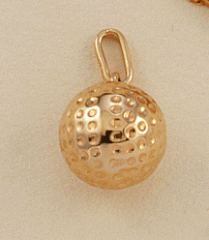 Pendentif balle de golf en or G302b