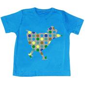 T-shirt bleu manches courtes Poule Multico