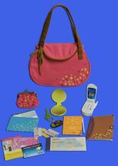 Petit sac à main et 15 accessoires
