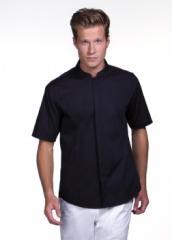 Men's Bar Shirt Mandarin Collar Short Sleeved