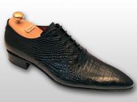 Chaussure richelieu cuir noir John Foster