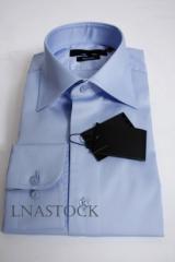 Chemise pur coton bleu ciel