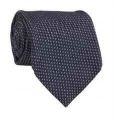 Cravate 7-plis en soie tissée marine