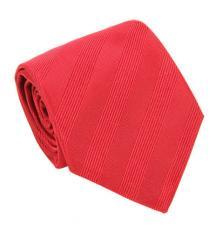 Cravate 7-plis en soie tissée rouge