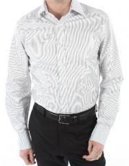 Chemise homme Ben cintrée rayures Portland gris