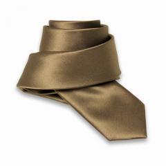 Cravate Slim Unie Or