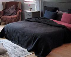 Plaid ou jeté de canapé coton/lin